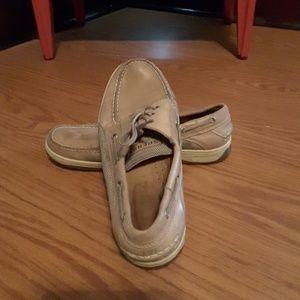 Sperry Top-siders tan boatshoes deckshoes Size 11M